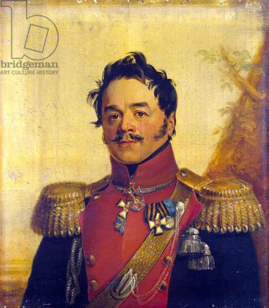 Portrait of Count Nikolai Grigoryevich Shcherbatov (1777-1845) - George Dawe (1781-1829). Oil on canvas, before 1825. Dimension : 70x62,5 cm. State Hermitage, St. Petersburg