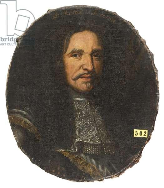 Marshal Henri de La Tour d'Auvergne, vicomte de Turenne (1611-1675), Anonymous . Oil on canvas. Dimension : H 59 cm. Nationalmuseum Stockholm