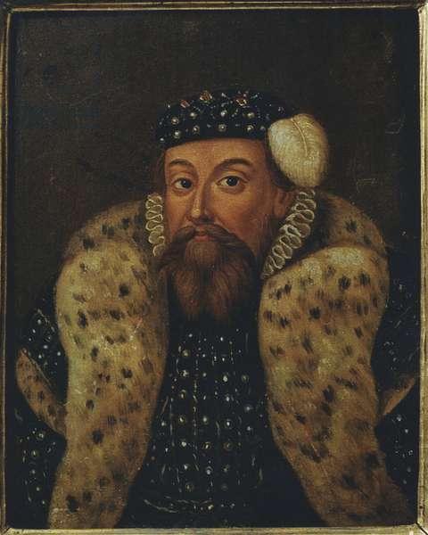 Eric XIV de Suede - Portrait of King Eric XIV of Sweden (1533-1577), Anonymous . Oil on wood. Dimension : 19x15 cm. Nationalmuseum Stockholm