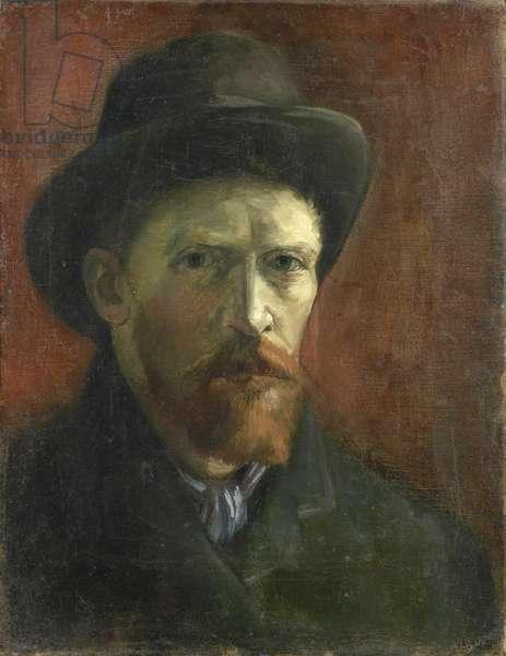 Self-Portrait with Felt Hat par Gogh, Vincent, van (1853-1890). Oil on canvas, size : 41,5x32,5, 1886-1887, Van Gogh Museum, Amsterdam