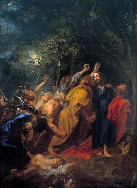 """""""""""La capture du christ"""""""" (The Capture of Christ) Peinture d' Anthony van Dyck (1599-1641) vers 1618-1620 Dim 344x253 cm Museo del Prado, Madrid"""