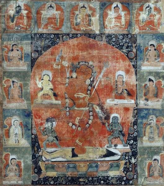 Tibetan culture : Samvara Mandala (Detail). Thangka, 13th- first third of 14th cen., State Hermitage, St. Petersburg