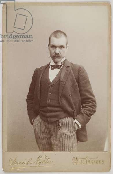 Akseli Gallen Kallela (1867-1931) - Akseli Gallen-Kallela - Anonymous. Photograph, 1890. Gallen-Kallela Museum