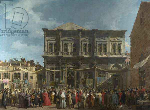 Canaletto (1697-1768) The Feast Day of Saint Roch in Venice Oil on canvas ca 1735 National Gallery, London 147,7x199