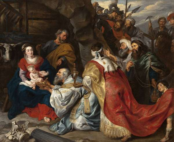 The Adoration of the Magi - Pieter Paul Rubens (1577-1640). Oil on canvas, c. 1620. Dimension : 235x277,5 cm. State Hermitage, St. Petersburg