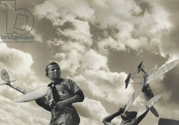 The young glider pilots, 1933 (collage)