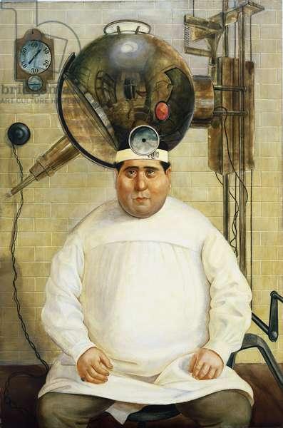 Dr. Mayer Hermann, 1926 (oil on canvas)