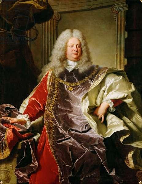 Baroque : Portrait de Philippe Louis, comte de Sinzendorf Neubourg - Portrait of Count Philipp Ludwig Wenzel von Sinzendorf (1671-1742) par Rigaud, Hyacinthe Francois Honore (1659-1743), 1728. Oil on canvas, 166x131,5. Art History Museum, Vienne