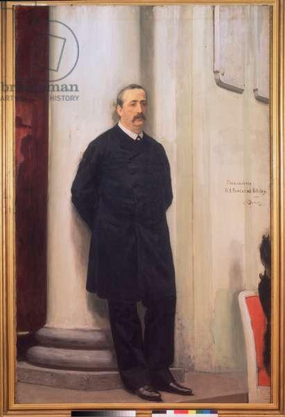Portrait of Composer and Chemist Alexandre Borodine (1833-1887), 1888 (oil on canvas)