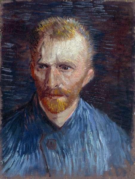 Self-Portrait par Gogh, Vincent, van (1853-1890). Oil on canvas, size : 44,5x33,6, 1887, Van Gogh Museum, Amsterdam