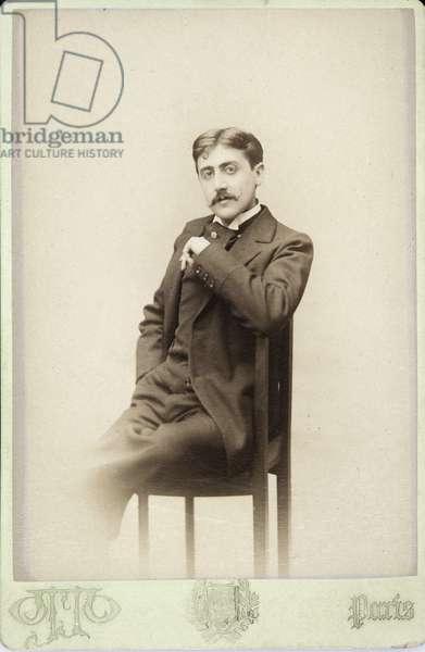 Marcel Proust, c.1895 (b/w photo)