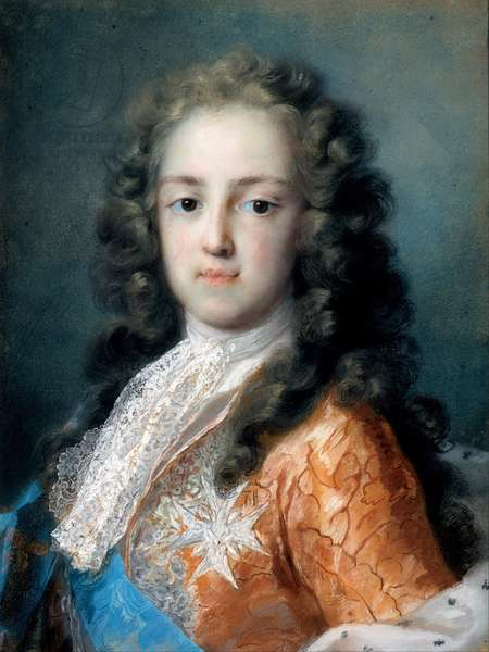 Louis XV of France (1710-1774) as Dauphin - Peinture de Rosalba Giovanna Carriera (1657-1757) - 1720-1721 - Pastel on paper - 50,5x38,5 - Dresden State Art Collections
