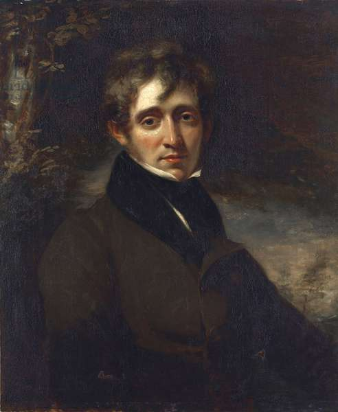 Portrait of the poet Thomas Moore (More) (1779-1852) , by Opie, John (1761-1807). Oil on canvas, 18th cent. Private Collection