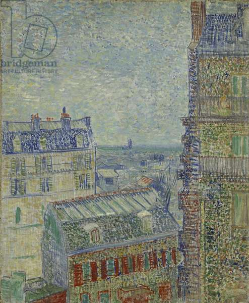 View of Paris from Theo's apartment in the rue Lepic, 1887 (oil on canvas)