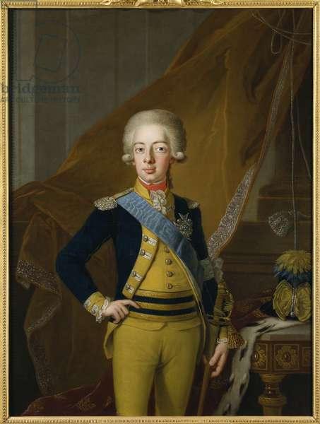 Gustave IV Adolphe de Suede - Portrait of Gustav IV Adolf of Sweden (1778-1837), by Krafft, Per, the Elder (1724-1793). Oil on canvas, 1793. Dimension : 127x95 cm. Nationalmuseum Stockholm
