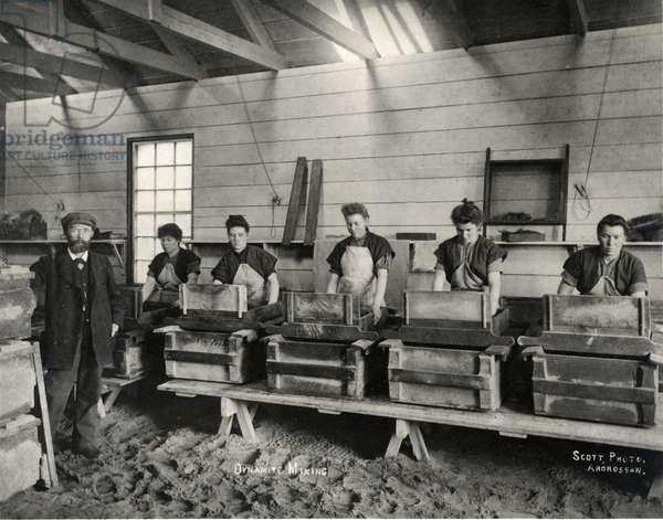 Dynamite mixing, Ardrossan, 1897 (b/w photo)