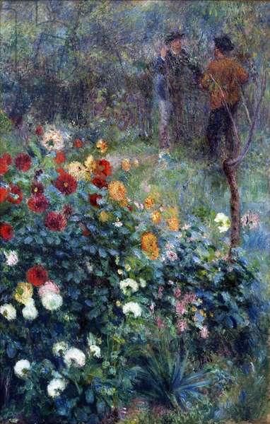 The Garden in the Rue Cortot, Montmartre - Pierre Auguste Renoir (1841-1919). Oil on canvas, 1876. Dimension : 154,3x88,9 cm. Carnegie Museum of Art, Pittsburgh