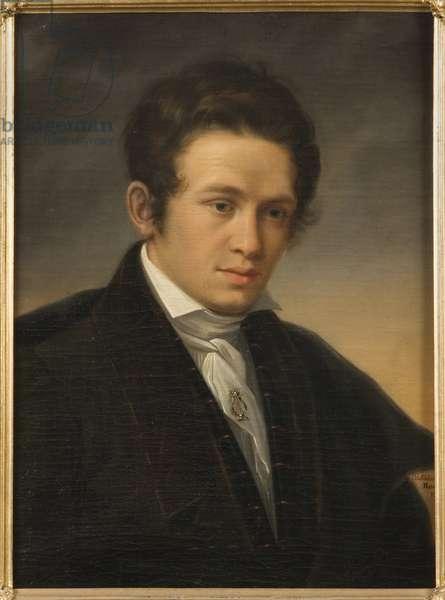 Portrait of the poet Karl August Nicander (1799-1839), by Sodermark, Olof Johan (1790-1848). Oil on canvas, 1827. Dimension : 59x47 cm. Nationalmuseum Stockholm