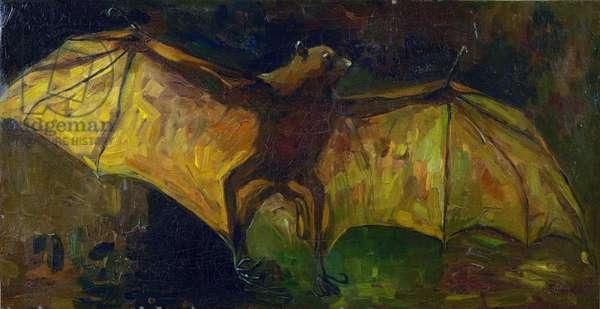 The bat par Gogh, Vincent, van (1853-1890). Oil on canvas, size : 41,5x79, 1884, Van Gogh Museum, Amsterdam