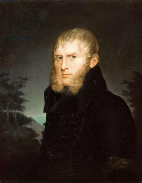 """""Portrait du peintre Caspar David Friedrich (1774-1840)"""" Peinture de Caroline Bardua (1781-1864) 1810 Staatliche Museen, Berlin"