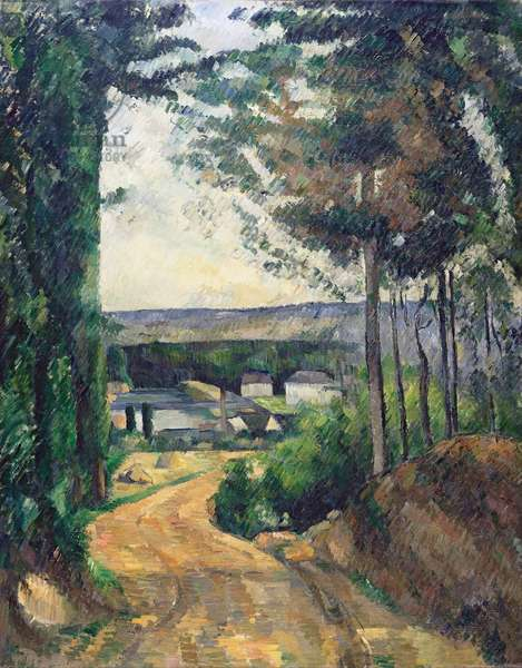 """""""""""La route menant au lac"""""""" (Road leading to the lake) Peinture de Paul Cezanne (1839-1906) 1880 - Oil on canvas Dim 92x75 cm Kroeller-Mueller Museum, Otterlo"""