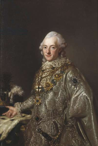 Charles XIII roi de Suede - Portrait of King Charles XIII of Sweden (1748-1818), Anonymous . Oil on canvas. Dimension : 117x78 cm. Nationalmuseum Stockholm
