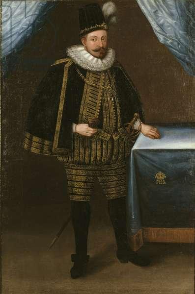 Sigismond III Vasa, roi de Pologne - Portrait of Sigismund III Vasa, King of Poland (1566-1632), Anonymous . Oil on canvas, 1600s. Dimension : 209x139 cm. Nationalmuseum Stockholm