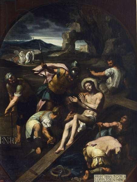Christ Nailed to the Cross - Francisco Ribalta (1565-1628). Oil on canvas, 1582. Dimension : 144,5x103 cm. State Hermitage, St. Petersburg