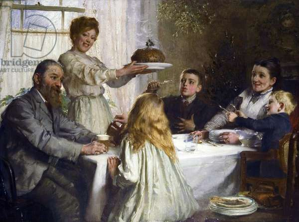 Christmas par Clark, James (1858-1943), - Oil on canvas, 90x120 - Private Collection