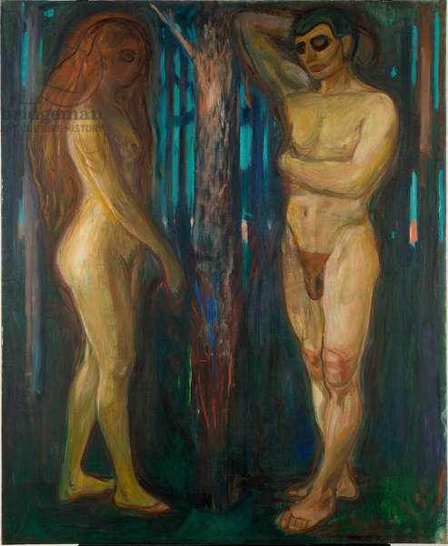 Metabolism par Munch, Edvard (1863-1944). Oil on canvas, size : 175x143, 1898-1899, Munch Museum, Oslo