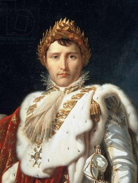 Full-length portrait of Napoleon I in coronation costume, detail, c.1805-10