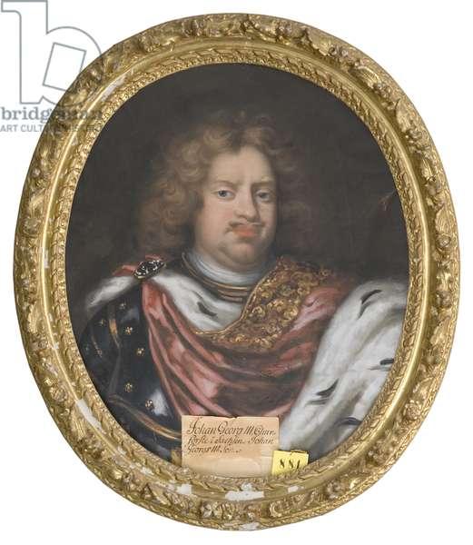 Jean Georges III de Saxe - Portrait of John George III (1647-1691), Elector of Saxony, by Krafft, David, von (1655-1724). Oil on canvas. Dimension : 75x62 cm. Nationalmuseum Stockholm