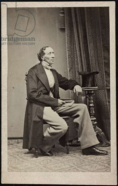 Portrait of Hans Christian Andersen (1805-1875), Anonymous . Photograph, ca 1865. Private Collection