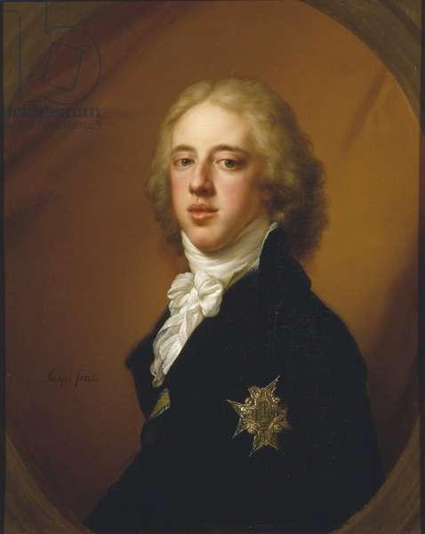 Gustave IV Adolphe de Suede - Portrait of Gustav IV Adolf of Sweden (1778-1837), by Lampi, Johann-Baptist von, the Elder (1751-1830). Oil on canvas. Dimension : 19,4x14,2 cm. Nationalmuseum Stockholm