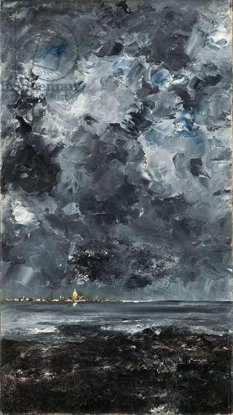 La ville - The Town - Strindberg, August (1849-1912) - 1903 - Oil on canvas - 94,5x53 - Nationalmuseum Stockholm