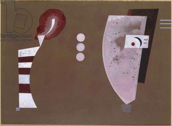 """""Mitten Kreise"""" (centre du cercle) - Peinture de Vassily Kandinsky (ou Wassily Kandinski ou Kandinskij, 1866-1944) 1932 Museo Nacional Centro de Arte Reina Sofia, Madrid"