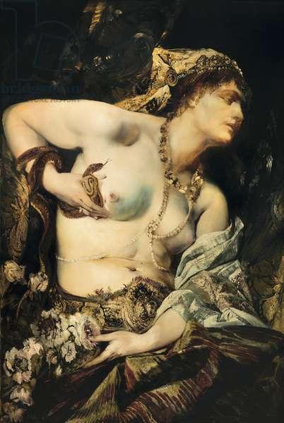 """""La mort de Cleopatre"""" (The Death of Cleopatra) Peinture de Hans Makart (1840-1884) 1875 Collection privee"