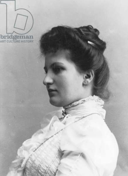 Alma Schindler (1879-1964) Austrian composer and author who married Gustav Mahler in 1902, ca 1900 (b/w photo)
