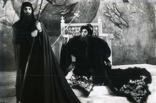 """Scene from the film """"""""Ivan The Terrible"""""""" by Sergei Eisenstein by Anonymous. Photograph, 1945-1958. Private Collection"""