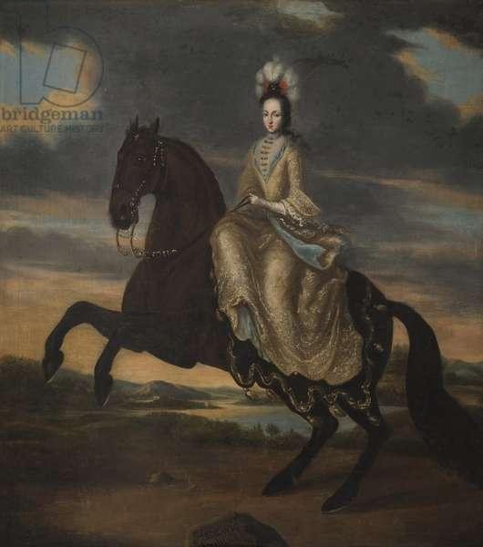 Edwige Sophie de Suede - Portrait of Duchess Hedvig Sophia of Holstein-Gottorp (1681-1708), Queen of Sweden, Anonymous . Oil on canvas, 1698. Dimension : 139x128 cm. Nationalmuseum Stockholm