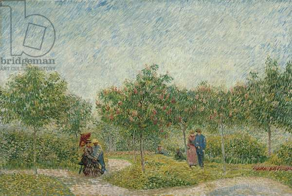 Courting couples in the Voyer d'Argenson Park in Asnières, 1887 (oil on canvas)