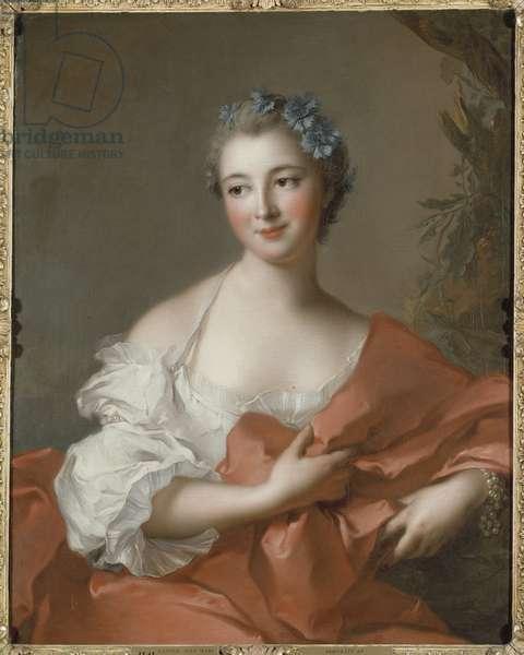 Elisabeth Louise Marquise de L'Hopital (1721-1767), nee de Boullongne, by Nattier, Jean-Marc (1685-1766). Oil on canvas. Dimension : 81x64 cm. Nationalmuseum Stockholm