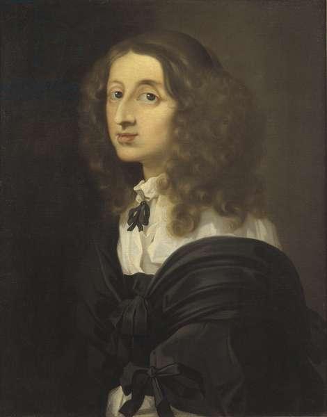 La reine Christine de Suede - Portrait of Queen Christina of Sweden (1626-1689), by Bourdon, Sebastien (1616-1671). Oil on canvas. Dimension : 72x58 cm. Nationalmuseum Stockholm