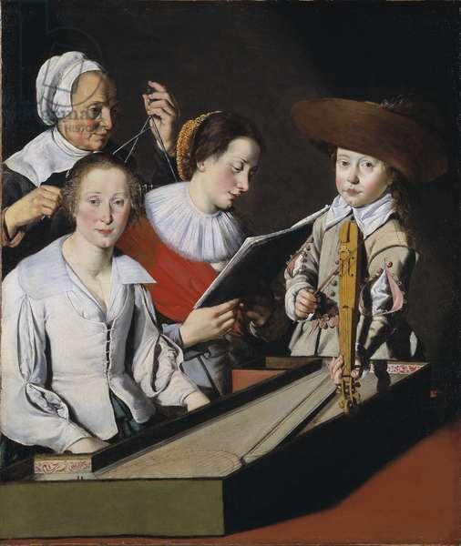 Une fete musicale - A Musical Party, by La Tarte, Paul (?-1636). Oil on canvas. Dimension : 116x98,8 cm. Nationalmuseum Stockholm