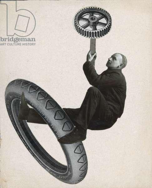 Self-portrait, 1922 (collage)