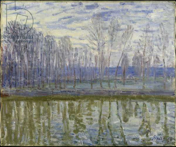 Sur les rives du Loing - On the Shores of Loing, by Sisley, Alfred (1839-1899). Oil on canvas, 1896. Dimension : 54x65 cm. Nationalmuseum Stockholm