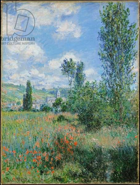 """""""""""Vue de Vetheuil dans le Val d'Oise"""""""" (View of Vetheuil) Peinture de Claude Monet (1840-1926) - 1880 - Oil on canvas Dim 80x60,3 cm Metropolitan Museum of Art, New York"""