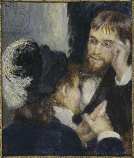 Conversation, by Renoir, Pierre Auguste (1841-1919). Oil on canvas, 1875-1878. Dimension : 45x38 cm. Nationalmuseum Stockholm