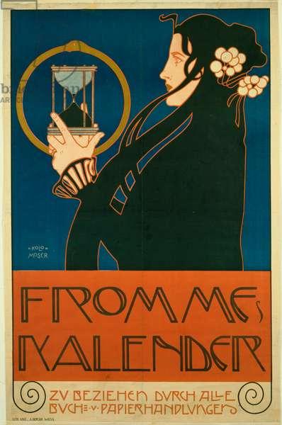 Moser, Koloman (1868-1918) Frommes Kalender (Calendrier des femmes) Colour lithograph 1903 New York City. Museum of Modern Art (MOMA)