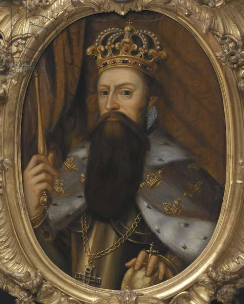Gustave Erikson Vasa, Gustave I roi de Suede - Portrait of the King Gustav I of Sweden (1496-1560), Anonymous . Oil on wood. Dimension : 74x56 cm. Nationalmuseum Stockholm